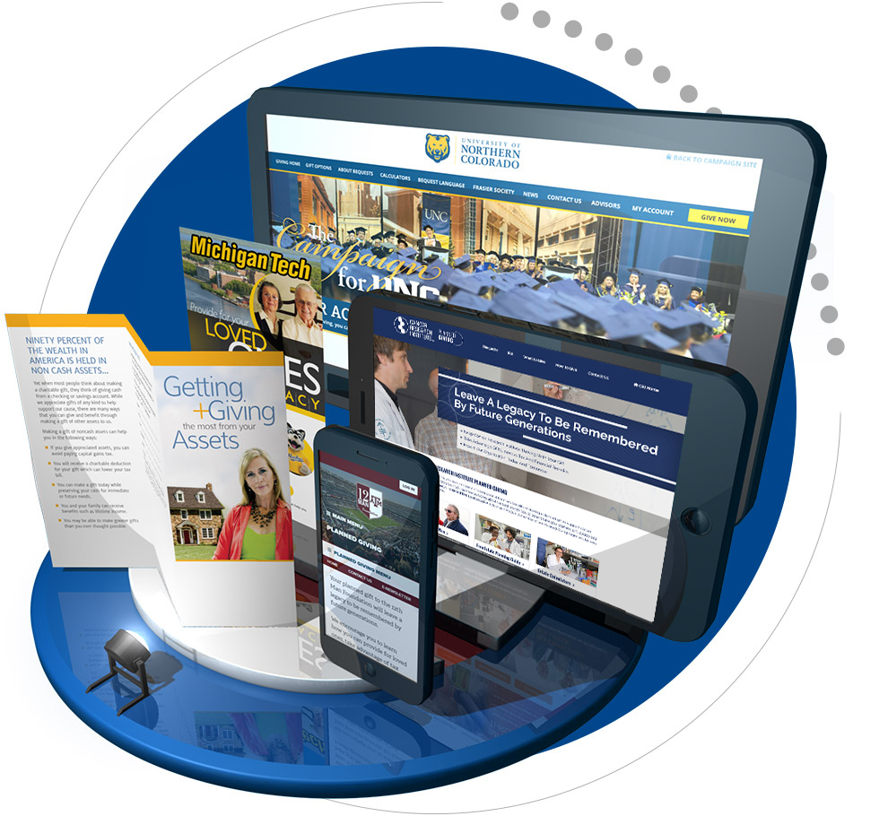 Crescendo Interactive Samples - Desktop website, mobile website, tablet website, enewsletter and brochure