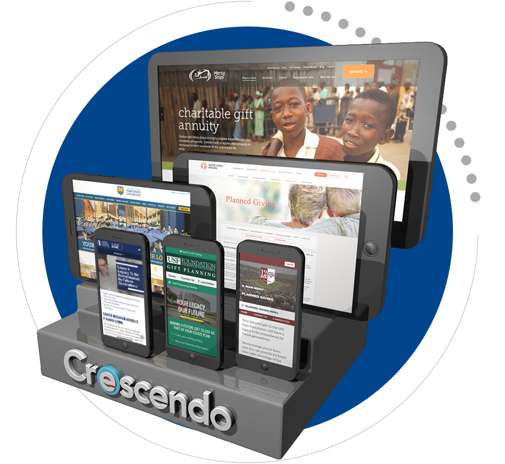 Desktop and mobile websites created by Crescendo Interactive