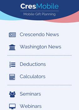 comprehensive planned giving software crespro crescendo interactive